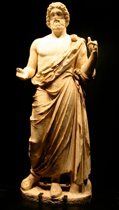 Statue of Asklepios excavated from his temple in Empuries, Spain