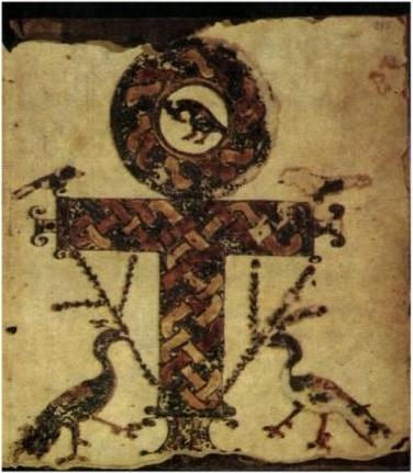 Crux ansata in Codex Glazier