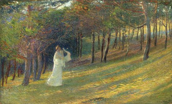 Orpheus in a Wood by Henri Martin
