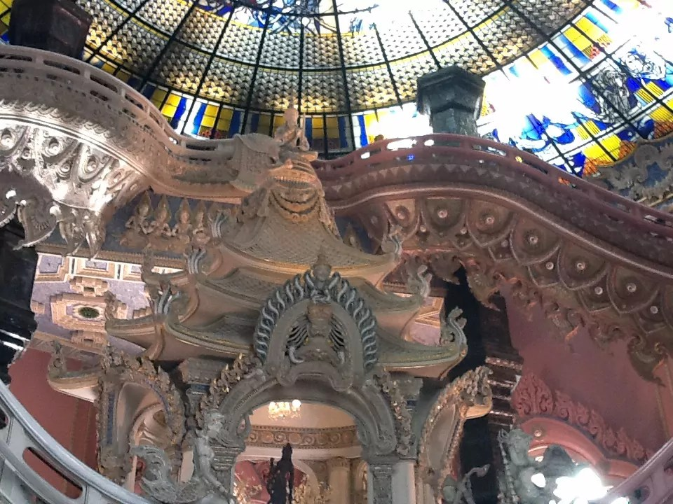 inside the big elephant in Erawan Museum