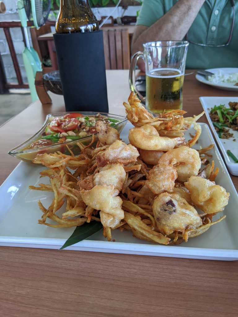 Fried Som Tam salad