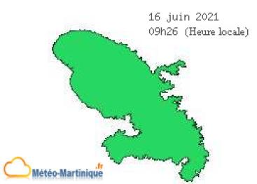 vigilance météo en Martinique