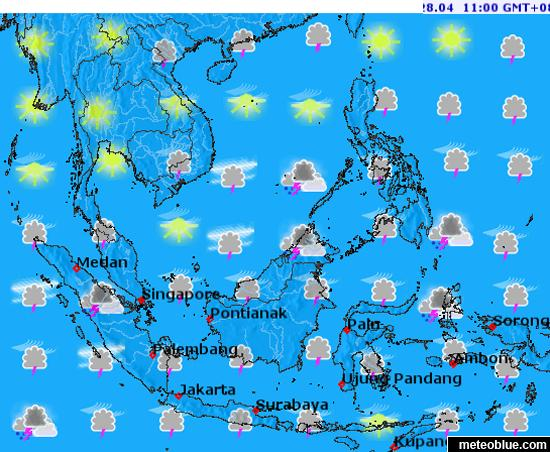 Southeast Asia Weather Map.Southeast Asia Weather Maps By Meteoblue Panahon Ngayon