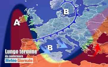 METEO Italia al 7 Novembre, NUBIFRAGI poi FREDDO