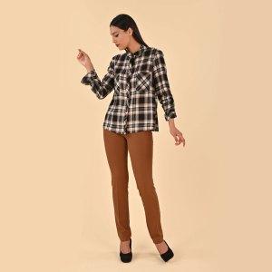 Camicia a quadri in viscosa e Pantalone elasticizzato skinny