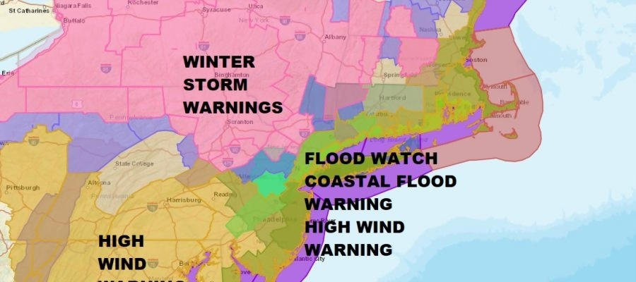 Noreaster Underway National Weather Service Snow Forecast Maps     WINTER STORM WARNINGS NORTHWEST NEW JERSEY  HUDSON VALLEY  NORTHWEST  CONNECTICUT  NORTHEAST PENNSYLVANIA