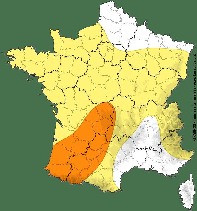 Risque orageux sur les Pyrénées Atlantiques