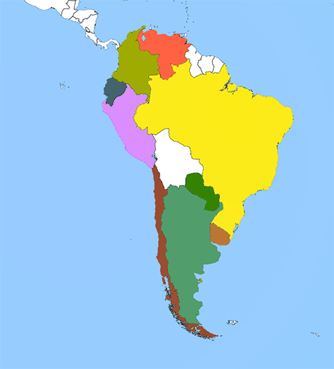 Map Portugal And Venezuela