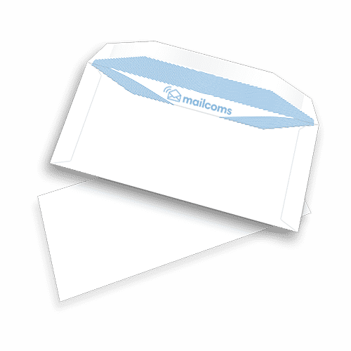 1000 White DL+ Gummed Non Windowed Envelopes (114mm x 235mm)