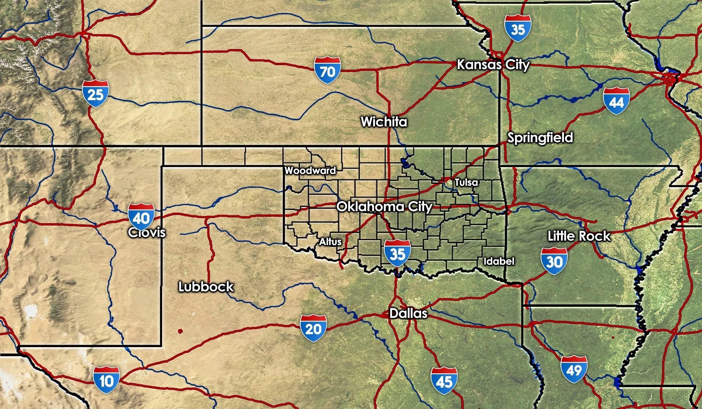 OKwx Regional Map