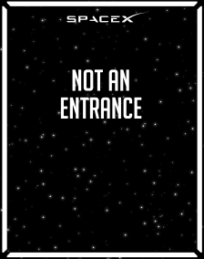 Directional_Not an Entrance_Space-X_22x28-01