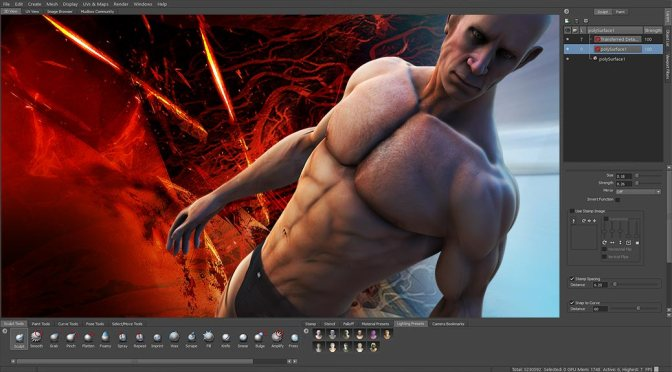 Mudbox Character Sculpting: bodybuilder