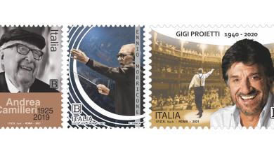 Photo of Poste Italiane emette francobolli dedicati ad Andrea Camilleri, Ennio Morricone e Gigi Proietti
