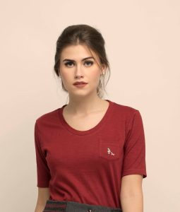 T-Shirt Abbha – Bordeaux