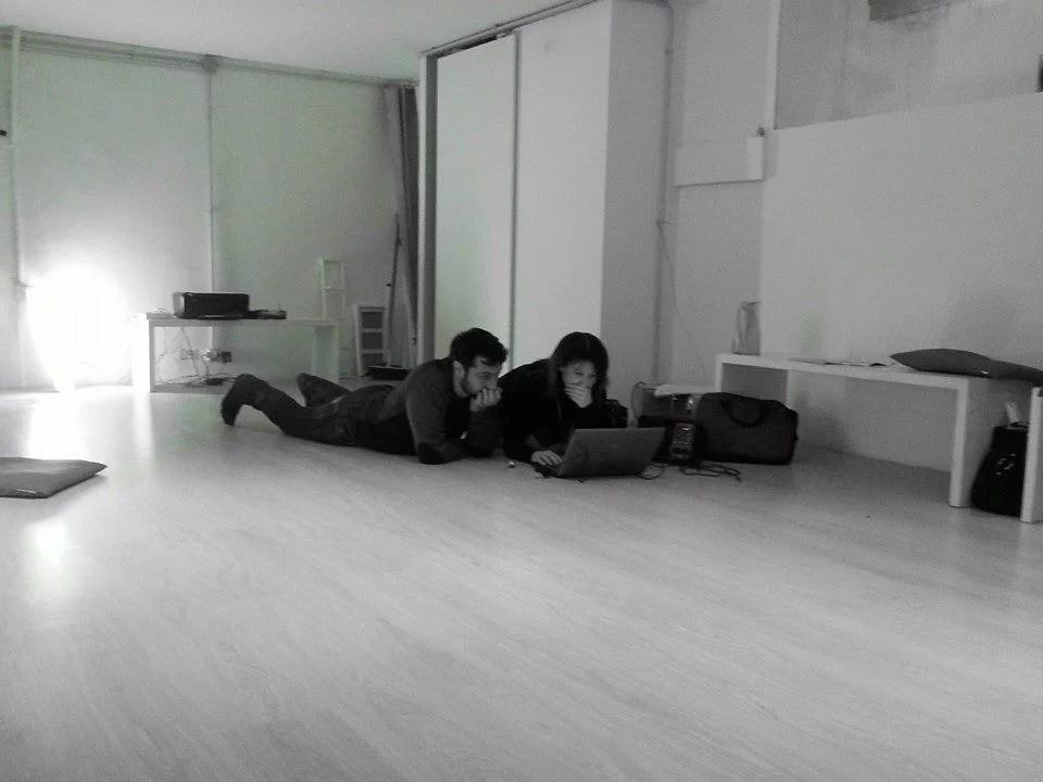 Alessia e Enzo prove in sede quando ancora la sala Metis di via Foligno non era ultimata