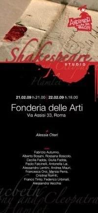 locandina spettacolo shakespeare studio