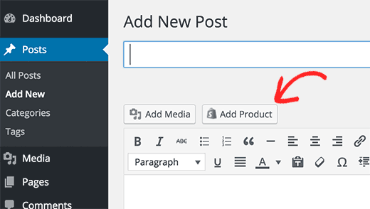 Add Products to WP