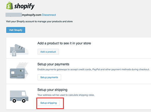 Shipping Setup Shopify