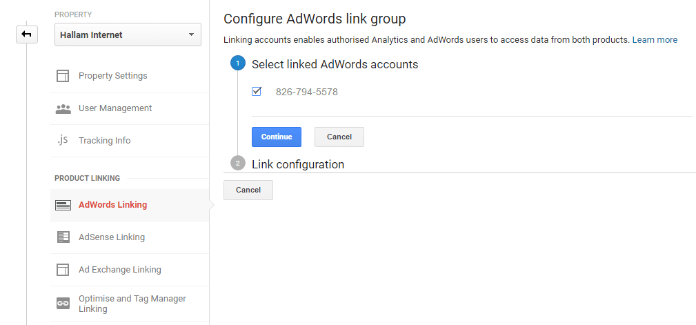 Adwords Linking