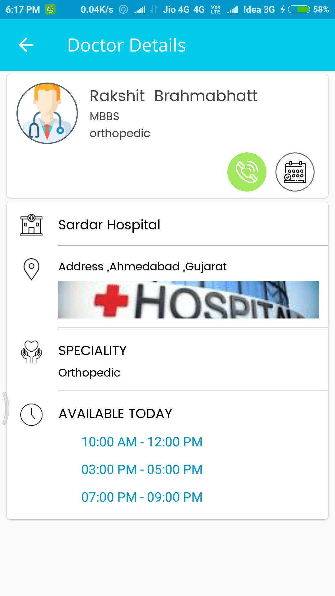 Hospital management Mobile App