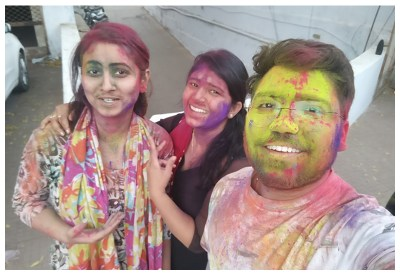 Playing Holi at Metizsoft