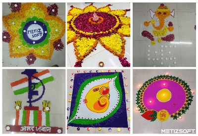 Rangoli Made by Metiz Team