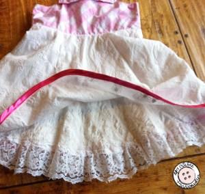 Wit en roze meisjes jurkje onderrok