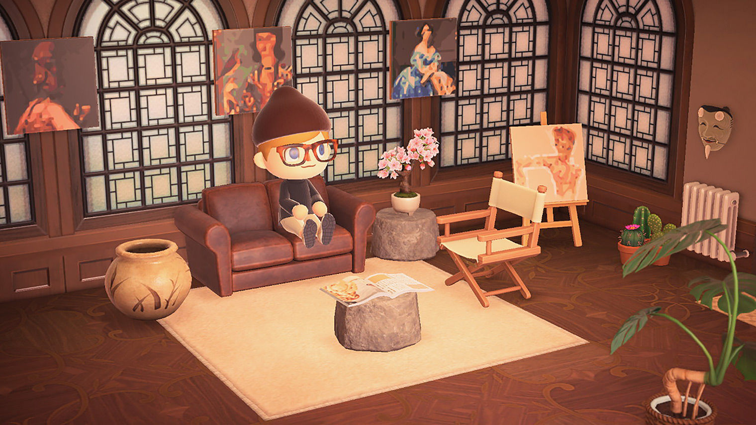 Own a Van Gogh … in Animal Crossing, with The Met's New ... on Animal Crossing New Horizons Living Room  id=57968