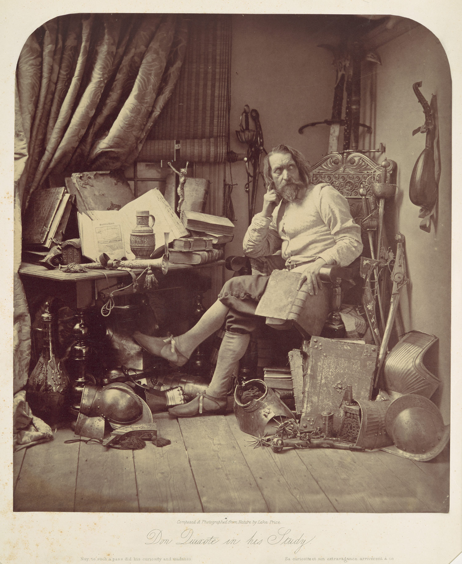 Don Quixote in His Study, W.L. Price (1857)