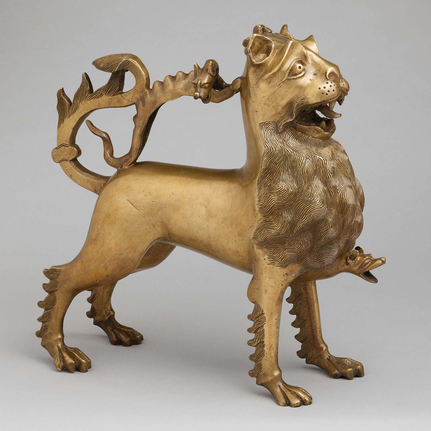 Aquamanile In The Form Of A Lion Germany Nuremberg