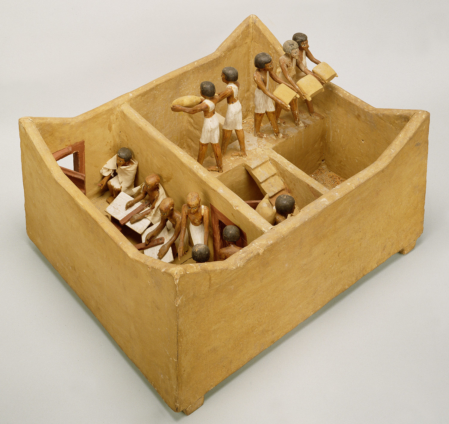 Scribes From Meketre S Model Granary Middle Kingdom