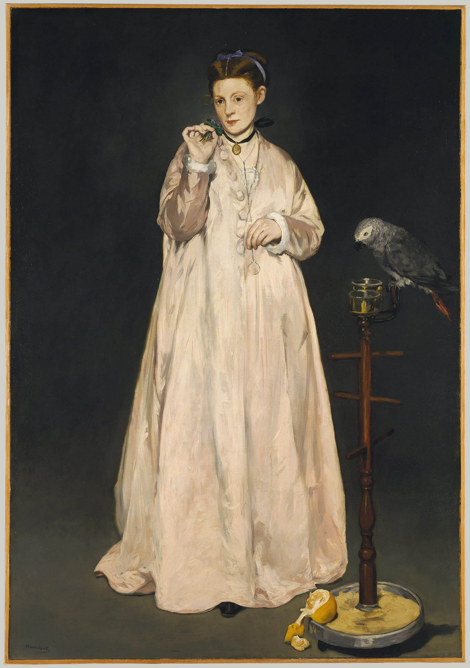 Edouard Manet, Woman with a Parrot, 1866, Metropolitan Museum of Art