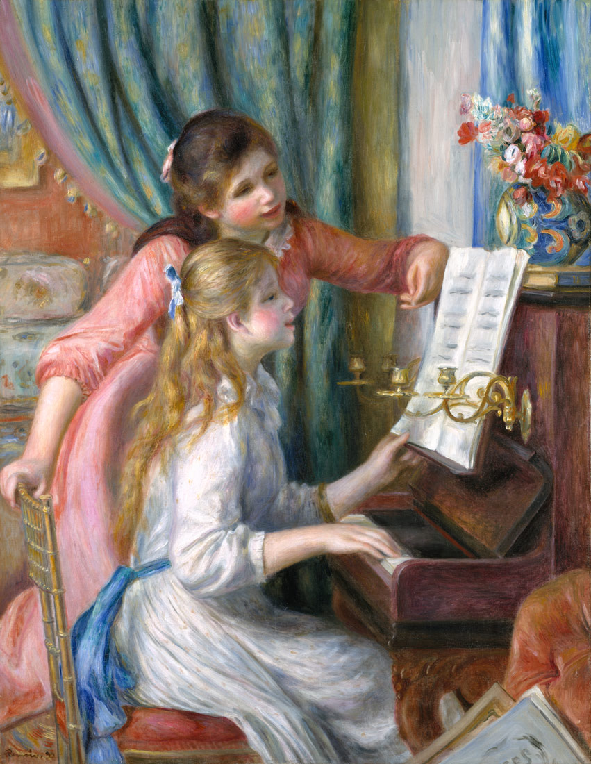 Image result for renoir paintings girl playing piano