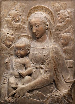 Madonna And Child With Angels Antonio Rossellino 1440