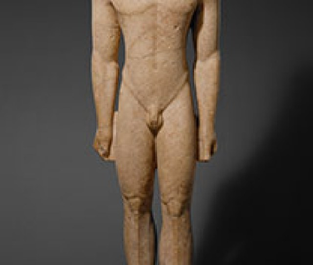 Marble Statue Of A Kouros Youth