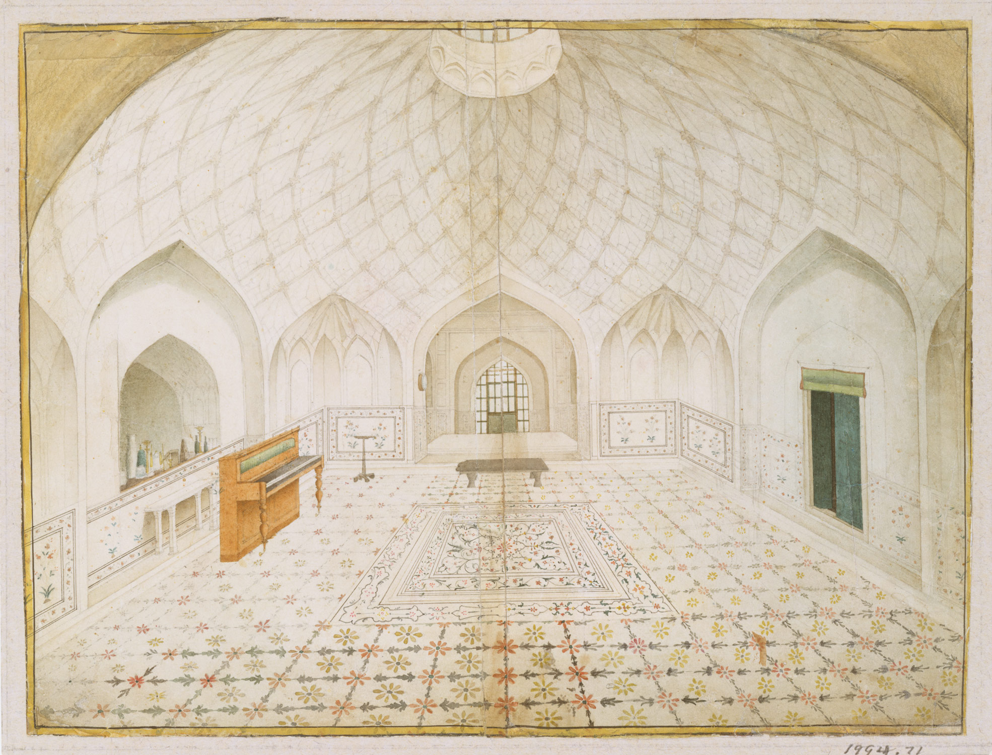 Interior Of The Hammam At The Red Fort Delhi Furnished