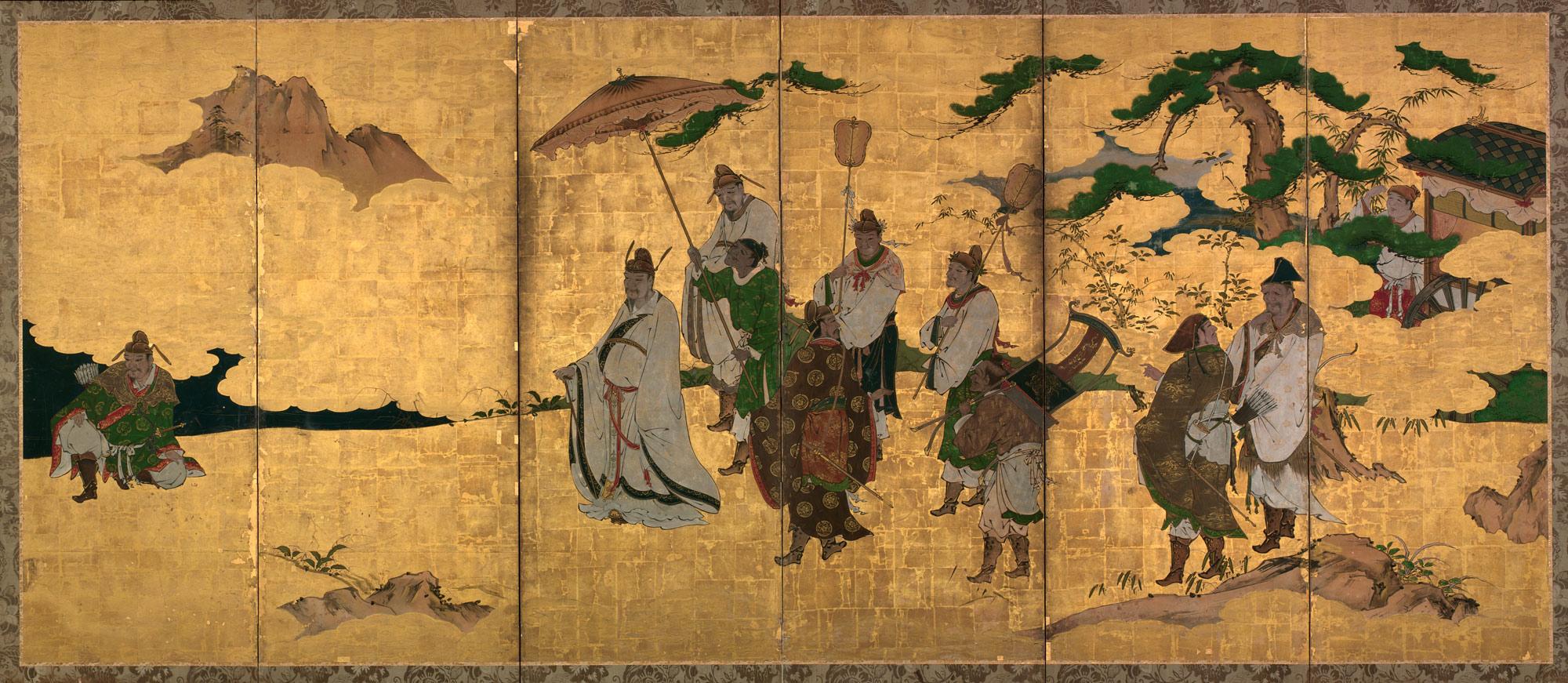 Meeting Between Emperor Wen And Fisherman Lu Shang