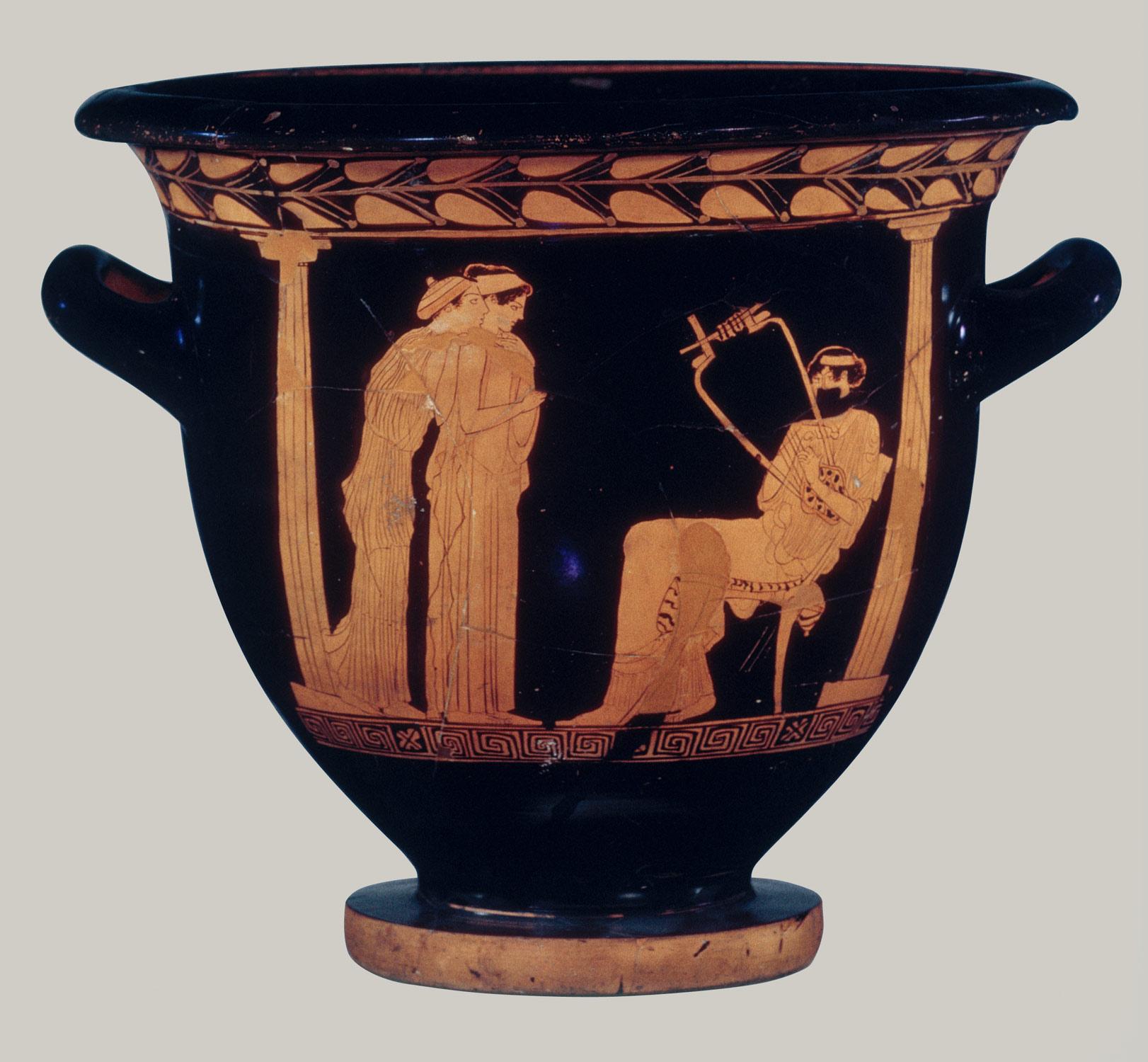 Image result for ancient greek orator vase