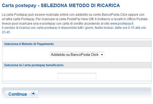 Guida Postepay Come Si Invia Una Ricarica On Line Dal Conto