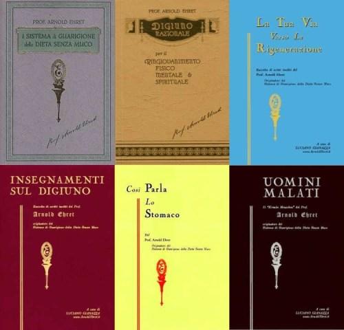 isei libri originali di Arnold Ehret