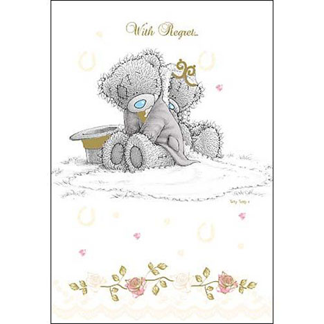 With Regret Wedding Invitation Me To You Bear Card