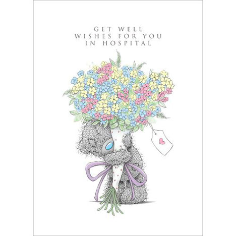 Get Well In Hospital Me To You Bear Card AL4SS010 Me