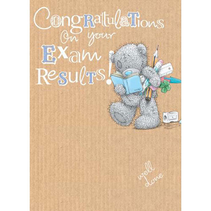 Exam Results Congratulations Me To You Bear Card A01SS418