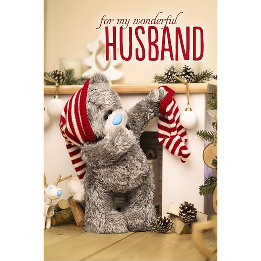 3D Holographic Wonderful Husband Me To You Bear Christmas