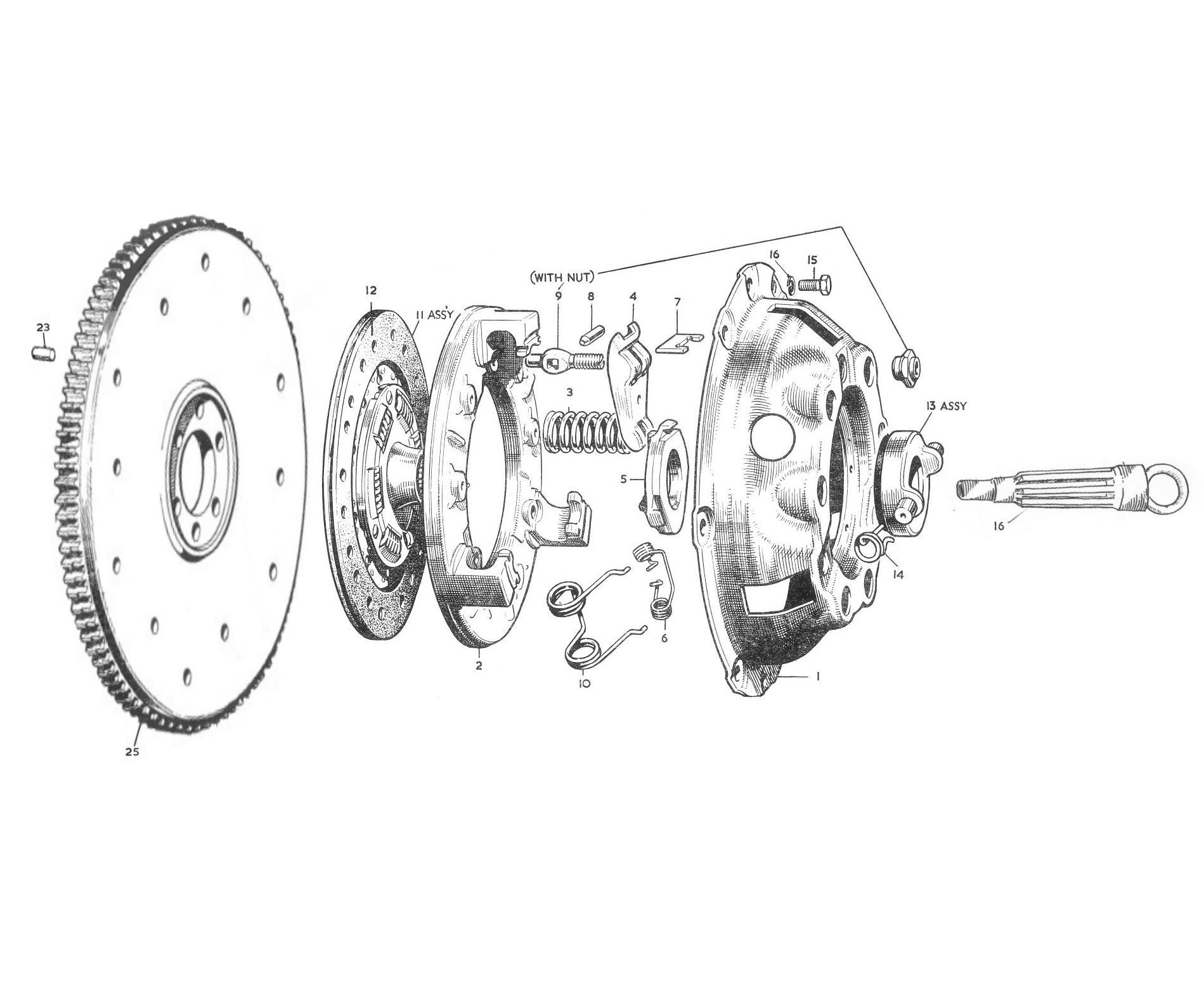 nash metropolitan clutch parts