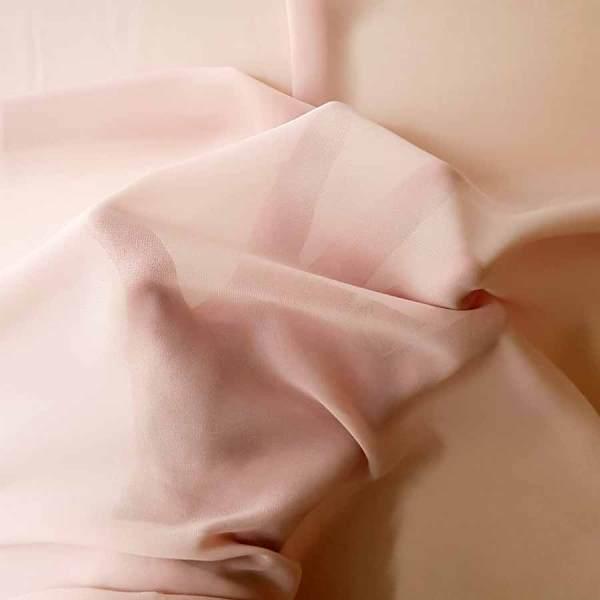 Tessuto tinta unita georgette colore rosa cipria