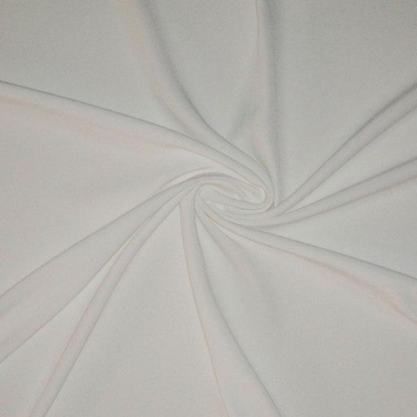 Tessuto tinta unita cady colore bianco ottico