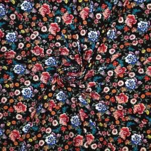 Jersey di viscosa – fiorellini fondo nero