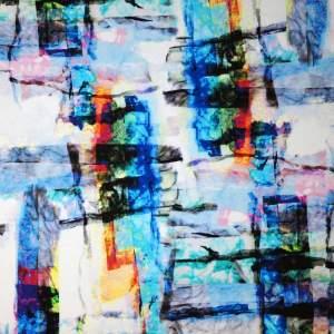 Jersey di viscosa – astratto multicolor