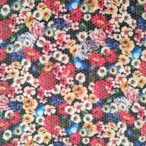 Paillettes stampate – floreale multicolor